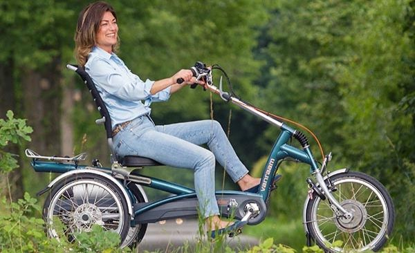 Electric Recumbent Tricycle CONVENIENCE Complete Suspension
